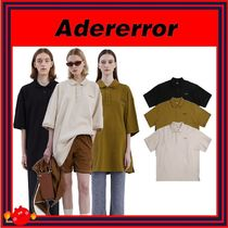 [ADERERROR] Duct tape logo polo shirt/3色/男女兼用/追跡付