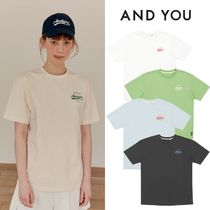 AND YOU(アンドユー) Tシャツ・カットソー 【AND YOU】21ss★ DOSAN Basic logo T-shirt 5色