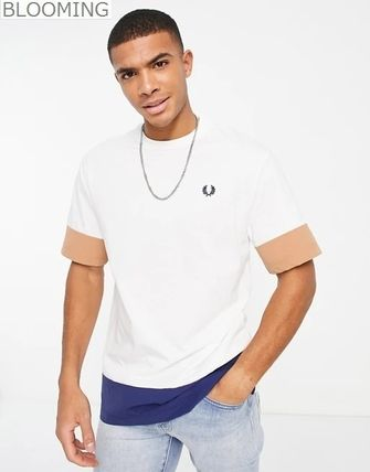 Fred Perry ★ ウーブン カラーブロック Tシャツ