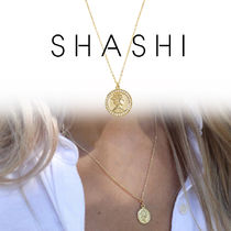 SHASHI シャシ ネックレス 18K Baby Warrior Pave Necklace Gold