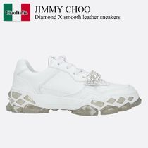 Jimmy Choo Diamond X smooth leather sneakers
