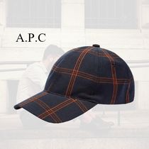 【A.P.C】CHARLIE CHECK キャップ