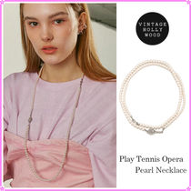 【VINTAGE HOLLYWOOD】Play Tennis Opera Pearl Necklace~2021SS