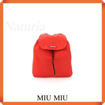 Miu Miu Packable Nylon Backpack