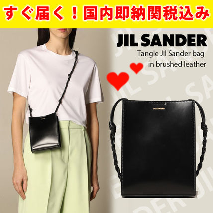 関税送料込国内発送★JIL SANDER Tangle bag in brushed leather