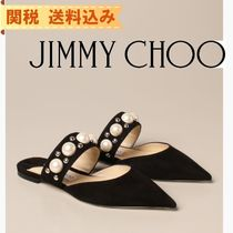 【JIMMY CHOO】 Jimmy Choo mules in suede with pearls