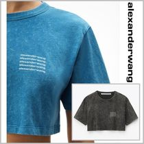 【Alexanderwang】acid wash logo crop top カジュアル Tシャツ