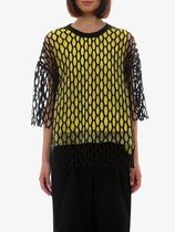 DRIES VAN NOTEN Nylon top Crew-neck