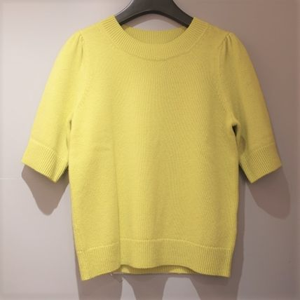 """""""COS"""" CASHMERE PUFF SLEEVE KNITTED TOP YELLOW"""
