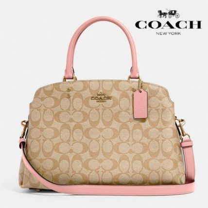 【COACH】Lillie Carryall In Signature Canvas 91495