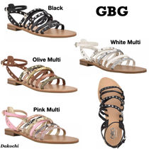 GUESS◆GBG Hoko Strappy Studded フラット サンダル