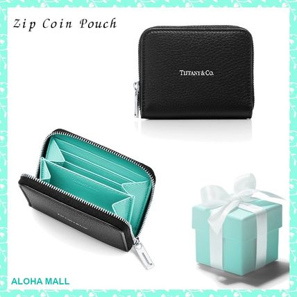 【TIFFANY&Co.】Zip Coin Pouch♪レザー コインケース♪人気♪