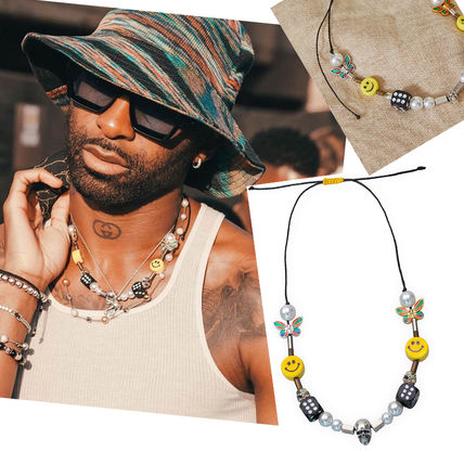 SALUTE (*EVAE+MOB) EVAE Smiley Pearl Necklace ネックレス
