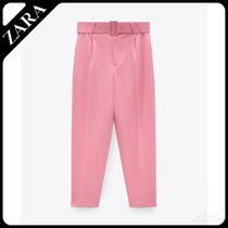 ★ZARA★ TROUSERS WITH LINED BELT