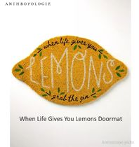 ANTHROPOLOGIE*When Life Gives You Lemons Doormat ドアマット