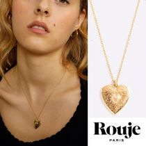 Rouje(ルージュ) ネックレス・ペンダント 【Rouje】ハート型ペンダント Amelie Necklace 24K金メッキ