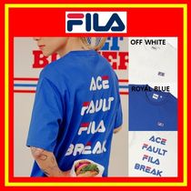 [FILA] ★FILAxFAULT★Wording Tennis T-shirt/男女兼用/追跡付