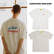 CONICHIWA bonjour(コンニチハボンジュール) Tシャツ・カットソー 【CONICHIWA bonjour】21ss SPARKLING T white/oatmeal