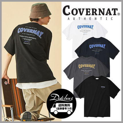 COVERNAT DRAWING LAYOUT LOGO T-SHIRT HM836 追跡付