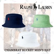 日本未入荷【Polo Ralph Lauren】CHAMBRAY BUCKET MEN'S HAT