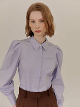 AND YOU(アンドユー) ブラウス・シャツ AND YOU SARABONG Puffed long sleeve blouse