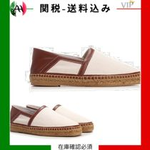 VIP/1点限り◆Canvas espadrilles with leather details