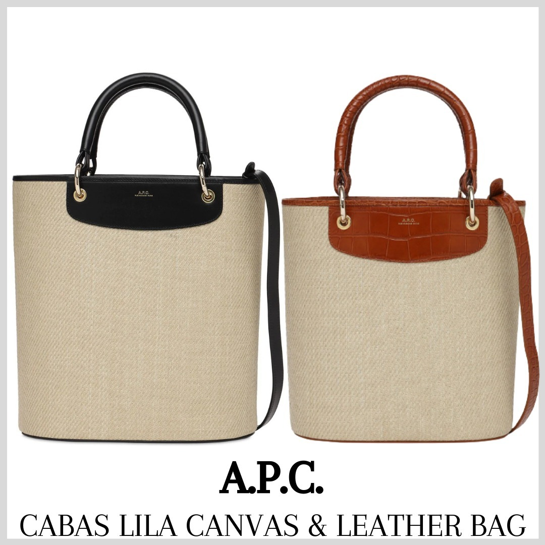 [A.P.C.] CABAS LILA CANVAS & LEATHER BAG (送料関税込み) (A.P.C./ショルダーバッグ・ポシェット) 67461637