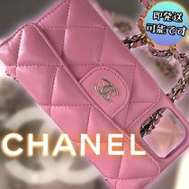 CHANEL*1点限り!iPhone12/12Pro チェーン ケース ピンク/追跡付