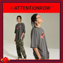 ATTENTIONROW(アテンションロー) Tシャツ・カットソー [ATTENTIONROW] VINTAGE CAR PIGMENT OVERFIT T-SHIRT/追跡付