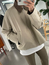 Corduroy Collar Short Jacket (Beige)