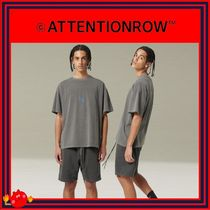 ATTENTIONROW(アテンションロー) Tシャツ・カットソー [ATTENTIONROW] CLOUD PIGMENT LOGO REGULAR OVERFIT TEE/追跡付