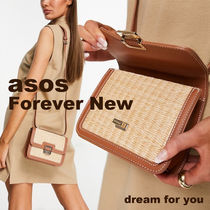 *ASOS*Forever New* ナチュラルストロー バッグ (送/関 込み)