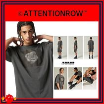 ATTENTIONROW(アテンションロー) Tシャツ・カットソー [ATTENTIONROW] FLOWER ARTWORK OVERFIT PIGMENT T-SHIRT/追跡付