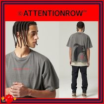 ATTENTIONROW(アテンションロー) Tシャツ・カットソー [ATTENTIONROW] PIGMENT GHOST GRAPHIC REGULAR TEE/追跡付