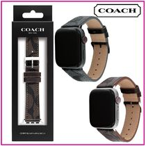 国内発送【COACH】Signature Apple Watch Band 42/44mm