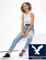 American Eagle Outfitters(アメリカンイーグル) Tシャツ・カットソー 【American Eagle】ハイネッククロップタンク ショート丈