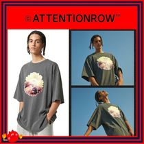 ATTENTIONROW(アテンションロー) Tシャツ・カットソー [ATTENTIONROW] SUNFLOWER PRINT PIGMENT OVERFIT TEE/追跡付