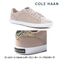 [Cole Haan] Carrie トープカラー パイソン柄レザースニーカー