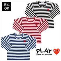 COMME des GARCONS(コムデギャルソン) キッズ用トップス 人気デザイン![COMME DES GARCONS PLAY]ボーダーロングTシャツ