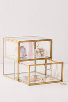 《UO》 2-Drawer Glass Jewelry Box ガラスジュエリーボックス