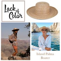 lack of color(ラックオブカラー) ハット 国内発送 ★.. Island Palma Boater 麦わら帽子..★