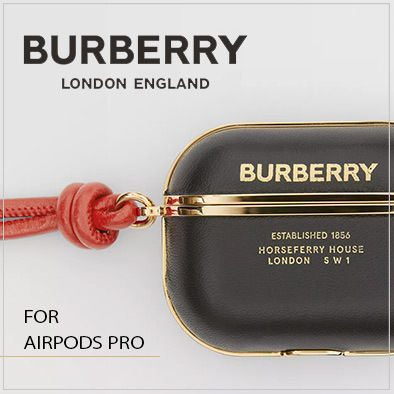 【BURBERRY】国内発送 ロゴプリント レザーAirpods Proケース