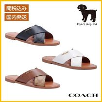 【COACH】Hilda Sandal In Signature Canvas◆国内発送◆