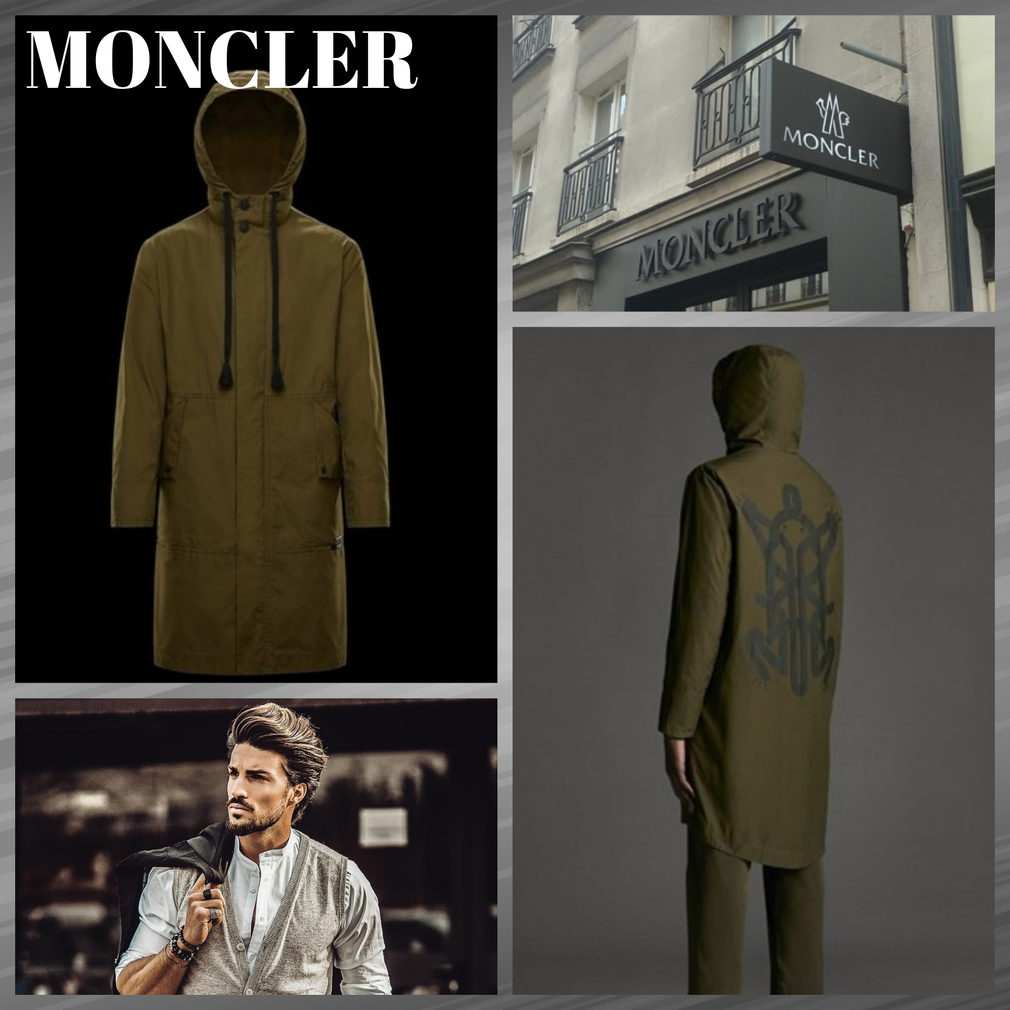 #MONCLER直営店買付#ACTINEMYS/ロングパーカー グリーン (MONCLER/マウンテンパーカー) 67518071