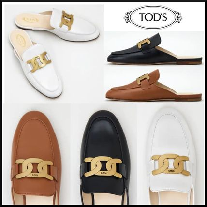 TOD'S☆MULES IN LEATHER☆レザー サボサンダル☆送料込