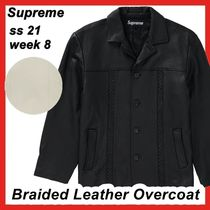 Supreme Braided Leather Overcoat SS 21 WEEK 8 2021