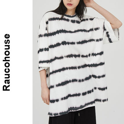 Raucohouse(ラウコハウス)★Striped Washed Over T