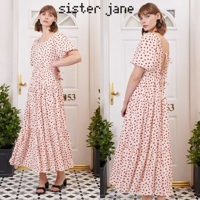 Sister Jane ワンピース 【関税込】Sister Jane バックリボン ティアードワンピース