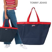TOMMY JEANS★バイカラーデザイン ロゴ入り トートバック