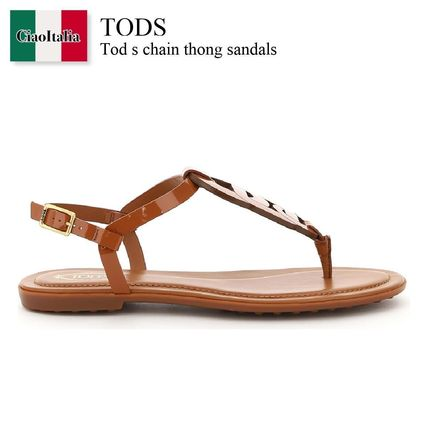 Tod s chain thong sandals
